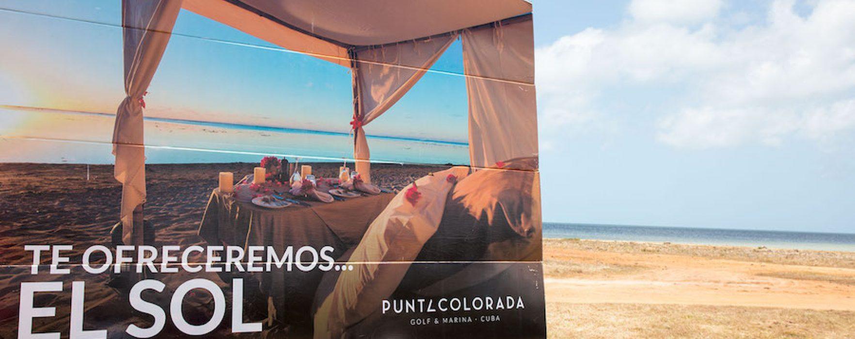 Inauguran valla promocional del proyecto Punta Colorada Golf & Marina Cuba *